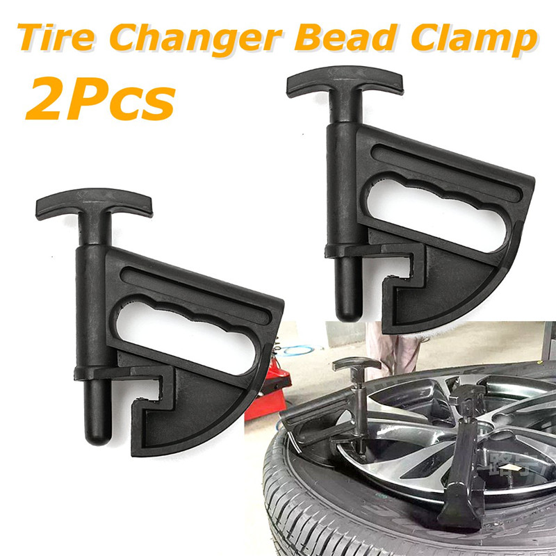 2Pcs Car-Styling Car Auto Tire Bead Clamp Tire Changer Bead Clamp Drop Center Tool Universal Rim Pry Wheel Changing Helper