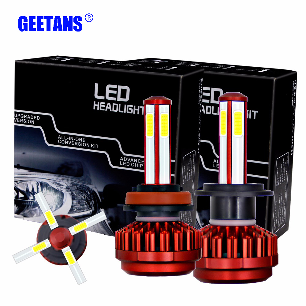 2 Pieces H7 LED Car Headlights H11 LEDS COB Lamps 9006 Automobiles 9005 80W 8000LM 6000K 12V 24V Auto Headlamp Light Bulb AJ ...