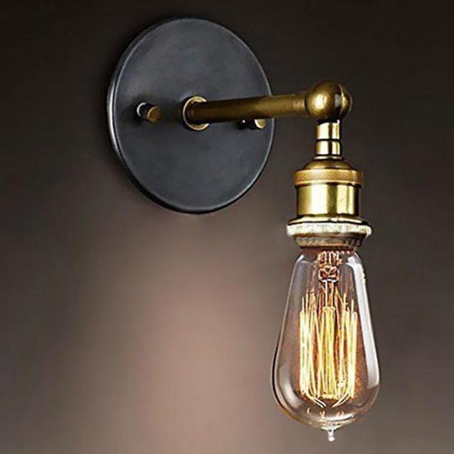 Vintage e27 lamp holder wall light ac110 220v industrial edison vintage e27 lamp holder wall light ac110 220v industrial edison light bulb 1 light aluminum aloadofball Images
