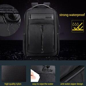Image 4 - ARCTIC HUNTER 15.6 นิ้ว Professional กันน้ำแล็ปท็อปกระเป๋าเป้สะพายหลัง USB กระเป๋าเป้สะพายหลังกีฬา Casual โน้ตบุ๊คกระเป๋าเดินทางชาย 2019