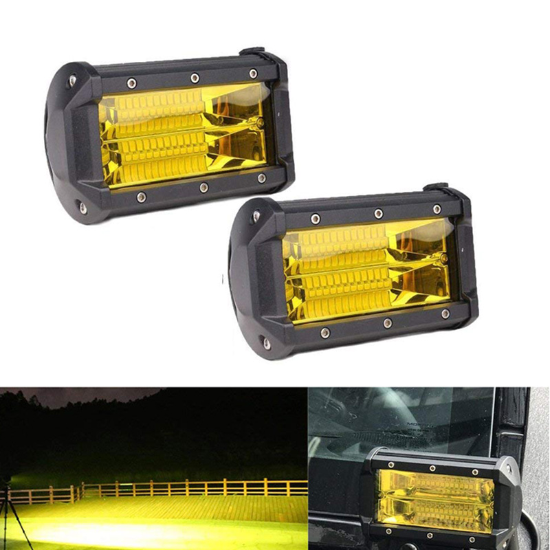 5 Inch 72W LED Work Light Bar Off Road Flood Lights IP67 Waterproof Driving Fog Lights For Truck Car ATV SUV  Boat