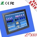 new 15.1 inch 4:3  open frame metal casing waterproof DVI VGA USB RS232 4/5 wire resistive touch screen monitor for machine