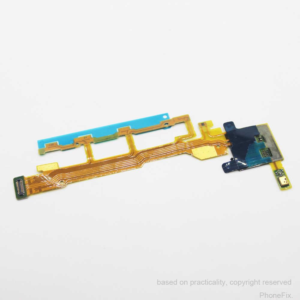 30 cái/lốc thay thế ban đầu power button flex cable microphone flex cho sony xperia z l36h l36 lt36 c6602 c6603 ribbon