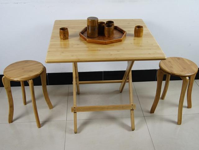 Outdoor Bamboo Folding Table Foldable Mahjong Table Desk Portable Folding  Table Simple Wooden Table