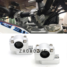 For BMW  G310R G310GS 2017 2018 Motorcycle Drag Handle Bar Clamps Handlebar Risers CNC Aluminum (apply 22MM 28MM handlebar) for bmw g310gs g310r g 310 2017 2018cnc motorcycle modified handlebar handle bar height up adapters