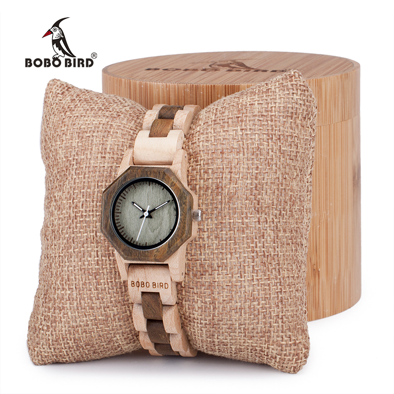 BOBO BIRD Women Watches Casual Antique Wooden Ladies Quartz Watch Gift For Girl Friend Saat Erkek Clock