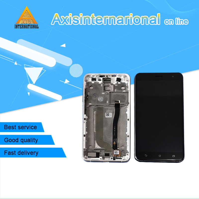 5.5'' Original Axisinternational For <font><b>Asus</b></font> <font><b>Zenfone</b></font> <font><b>3</b></font> <font><b>Ze552Kl</b></font> Z012DE <font><b>Lcd</b></font> Screen <font><b>Display</b></font>+Touch Panel Digitizer With Frame image