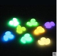 Garden Ornaments 100PCS Mixed Color Glow In The Dark Luminous Pebbles Stones Wedding Aquarium Decoration Crafts
