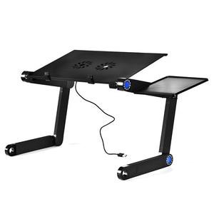Image 1 - על מכירת מתכוונן נייד סגסוגת אלומיניום שולחן מחשב נייד מחשב נייד עמדת מחברת שולחן מחשב עם עכבר צלחת ואוהדים