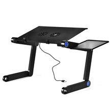 Auf Verkauf Einstellbar Tragbare Aluminium Legierung Laptop Tisch Klapp laptop Computer Schreibtisch Notebook Stand Mit Maus Platte Und Fans