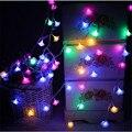 Сменные 4 М 20 LED Романтический Роуз Огни Строки Новый Год День святого валентина Рождество Свадьба Светодиодные Гирлянды