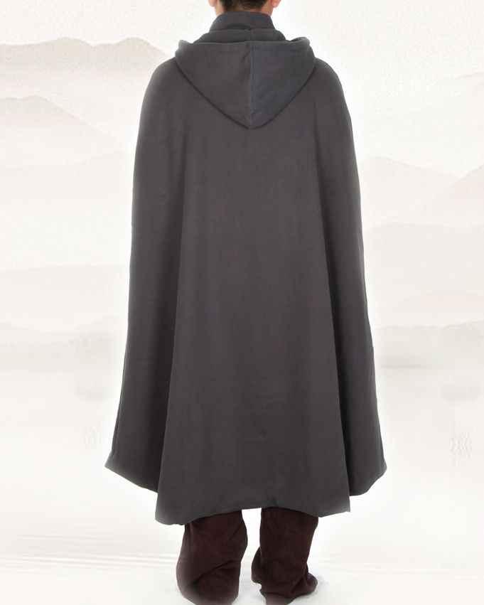 Унисекс 4 цвета дзен плащ для медитации теплый буддийский монах костюм халат зимняя одежда пальто боевые искусства накидка красный/коричневый/желтый серый