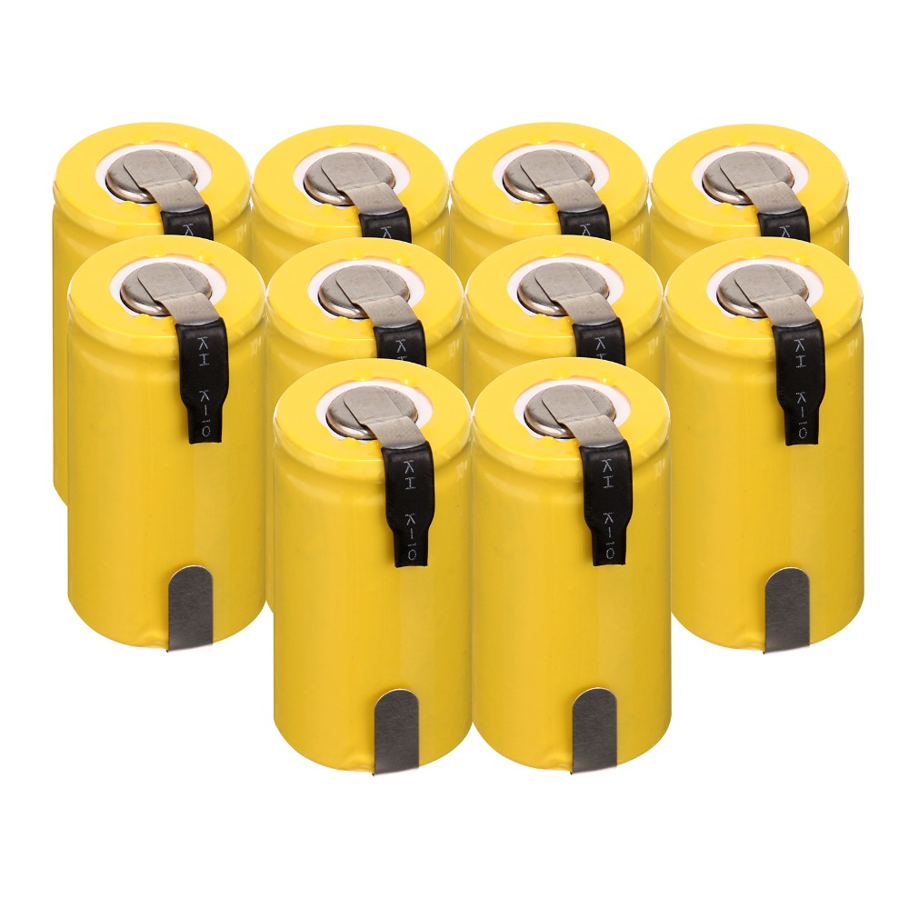 2/4/6/8/10 Pcs Anmas Power 1.2V 1300mAh YellowNiCd Sub C SC Rechargeable Battery With Tab