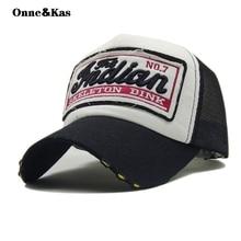 b5f74b691c3 letter embroidery Patch Mesh cap Baseball Cap Truck caps Dad Hat Snapback  Hip Hop Cap Hats