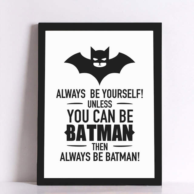 US $4.89 40% OFF|Nordic Minimalis Print Motivitional Love Quotes Keep Calm  To Be Batman Art Canvas Painting Wall Pictures Posters Best Home Decor-in  ...