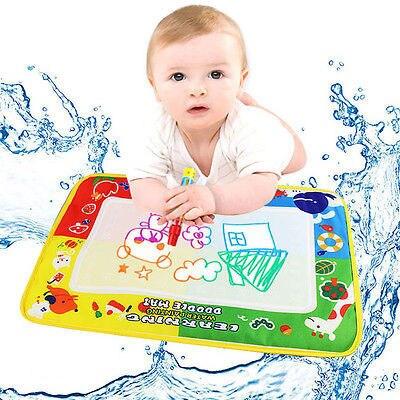 Детский рисунок игрушки вода Aqua Doodle Мат & 1 Волшебное перо вода доска для рисования 4 цвета