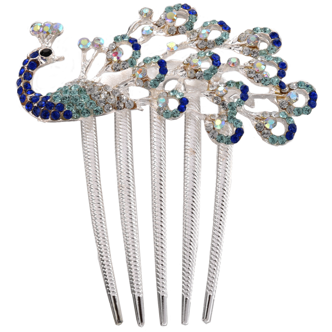 Crystal Peacock Hair Clip Lovely Vintage Jewelry Comb As Beauty Tool For Girls At Party Or Daily Use