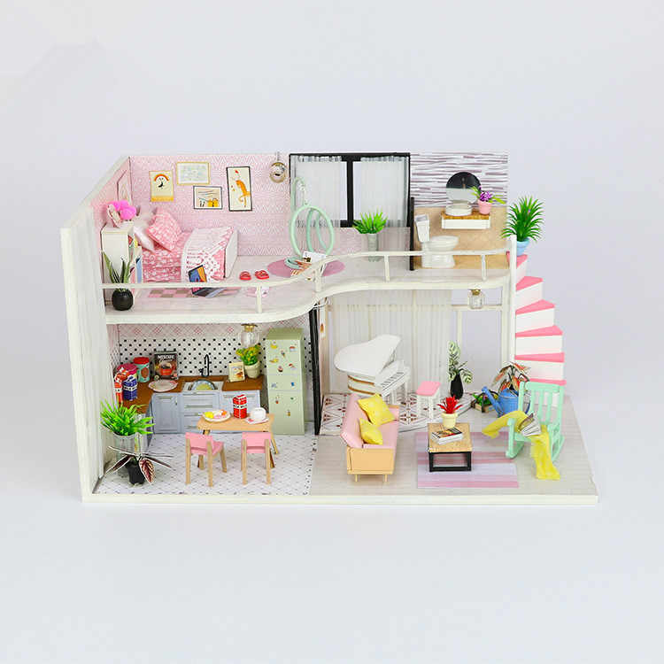 Detail Feedback Questions About Diy Doll House Building Model Wooden