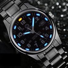 Tritio Luminoso reloj de Buceo Deportivo de Lujo famosa Marca Para Hombre Relojes de Cuarzo de Moda reloj de acero llena militar relogio del cuero genuino