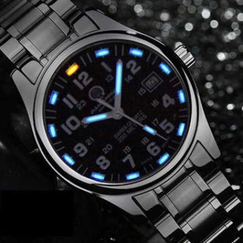 Tritium Luminous Diving Sports Luxury famous Brand Mens Fashion Quartz Watches military full steel genuine leather relogio watch