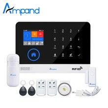 Ampand WIFI GSM 3G GPRS Inglés Alemán Conmutable de tarjetas RFID sistema de Brazo y Desarmar la Alarma Wireless Home Seguridad Remoto APP Control