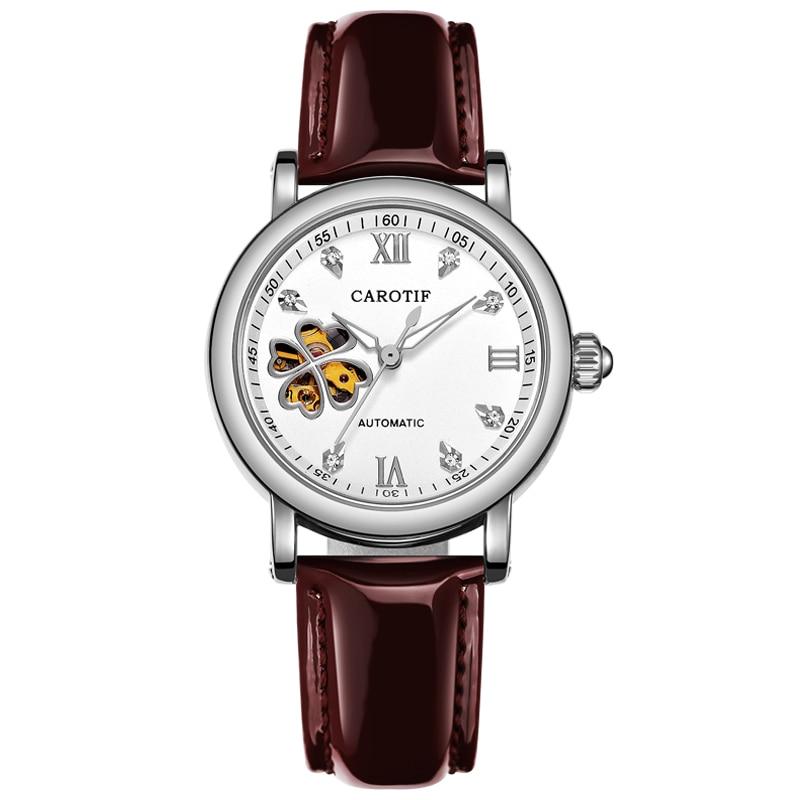 Carotif moda otomatik mekanik saatler kadın - Kadın Saatler - Fotoğraf 2