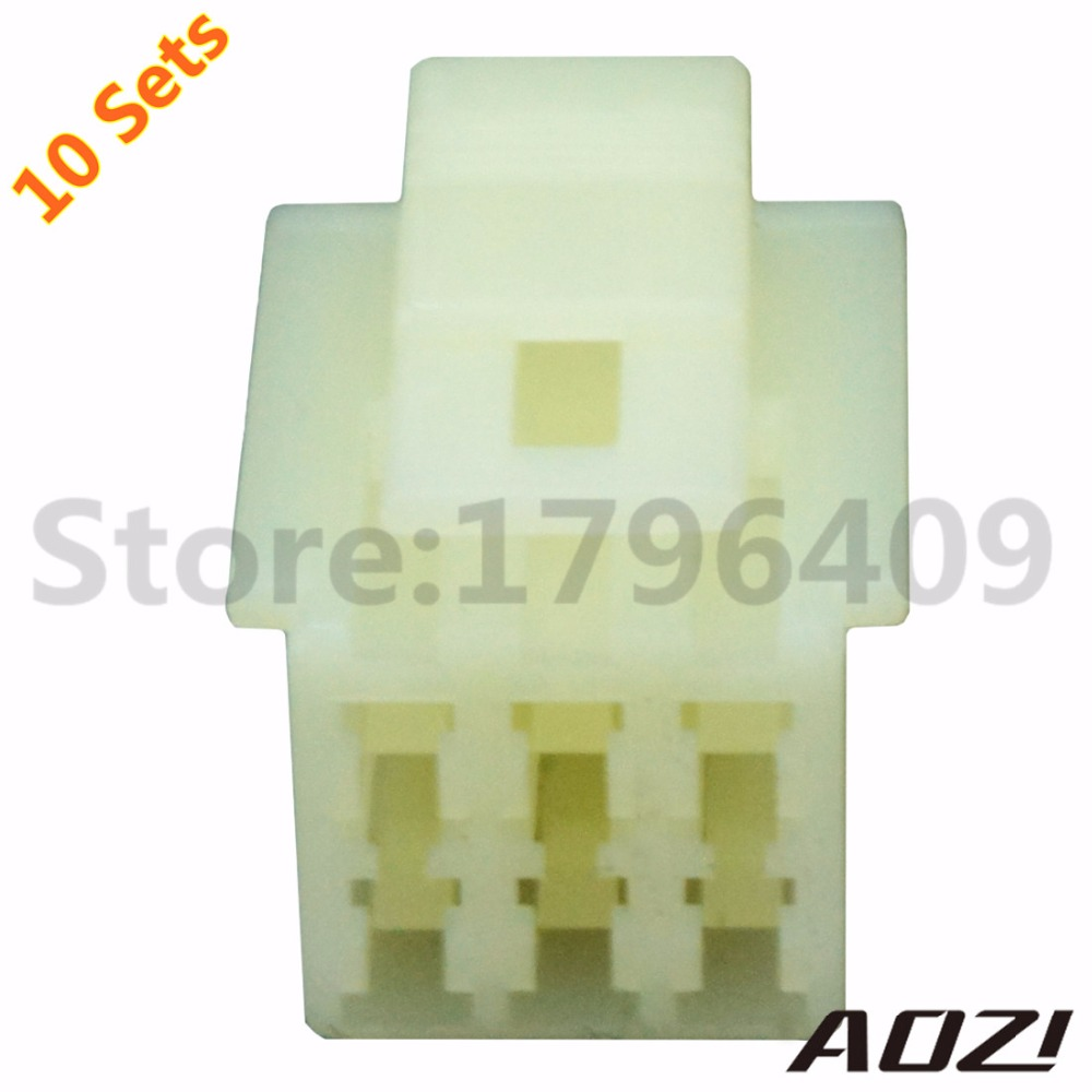 10 Sets Female Auto Wire Harness Connector 6090 1218 /2.3mm Series 6 Pins-in  Connectors from Lights & Lighting on Aliexpress.com | Alibaba Group