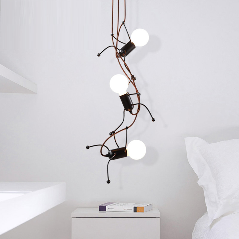 Simple Modern Living Room Bedroom Bedside Lamp Art Lamp pendant light Children Room Corridors iron pendant lamps a1 master bedroom living room lamp crystal pendant lights dining room lamp european style dual use fashion pendant lamps