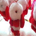 2017 Fashion Two-color Rabbit Fur Key Chain Soft Genuine fur pom pom keychain Rabbit pendant key ring trinket Women bag cha 8