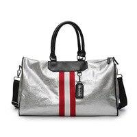 HOT SALE Women Men Unisex Travel Bag 2018 Stripe Sports Handbag Beach Crossbody Bag Fashion Couples Luggage Package Waterproof