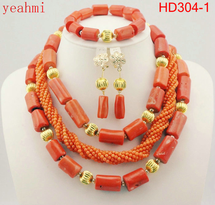 Luxury African Wedding Bridal Coral Jewelry Sets Women Costume Jewelry Sets Big Coral Bead Necklace Set Free Shipping HD304-1Luxury African Wedding Bridal Coral Jewelry Sets Women Costume Jewelry Sets Big Coral Bead Necklace Set Free Shipping HD304-1