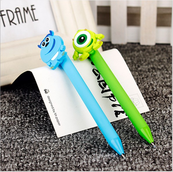 Monsters Inc Sulley Candy Color Frosted 0.5 Mm Black Gel Pen  Creative Learning Stationery Ball-point Pen For Kids