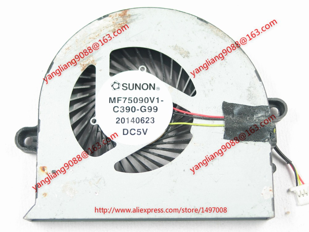 цена на Free Shipping For SUNON MF75090V1-C390-G99 DC 5V 3-wire 3-pin connector 40mm Server CPU Cooling fan