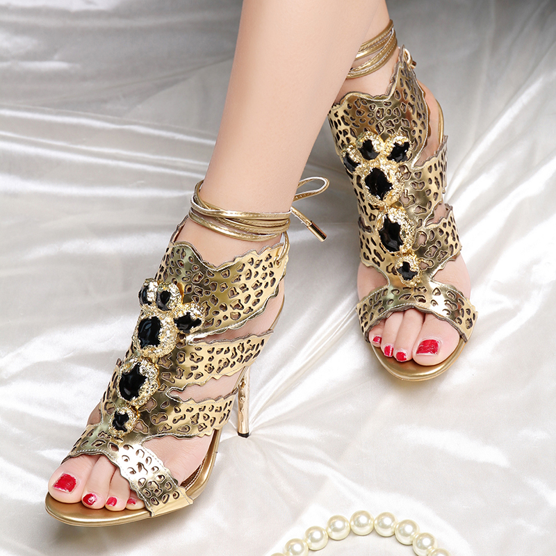 Popular Gold Jeweled Heels-Buy Cheap Gold Jeweled Heels lots from ...
