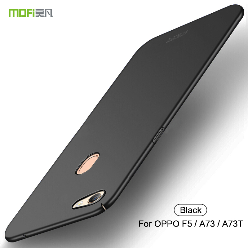 OPPO F5 Case Mofi Original Hard Back Full Cover Case For OPPO A73 A73T Matte Plastic Luxury Fashion Fundas Cover