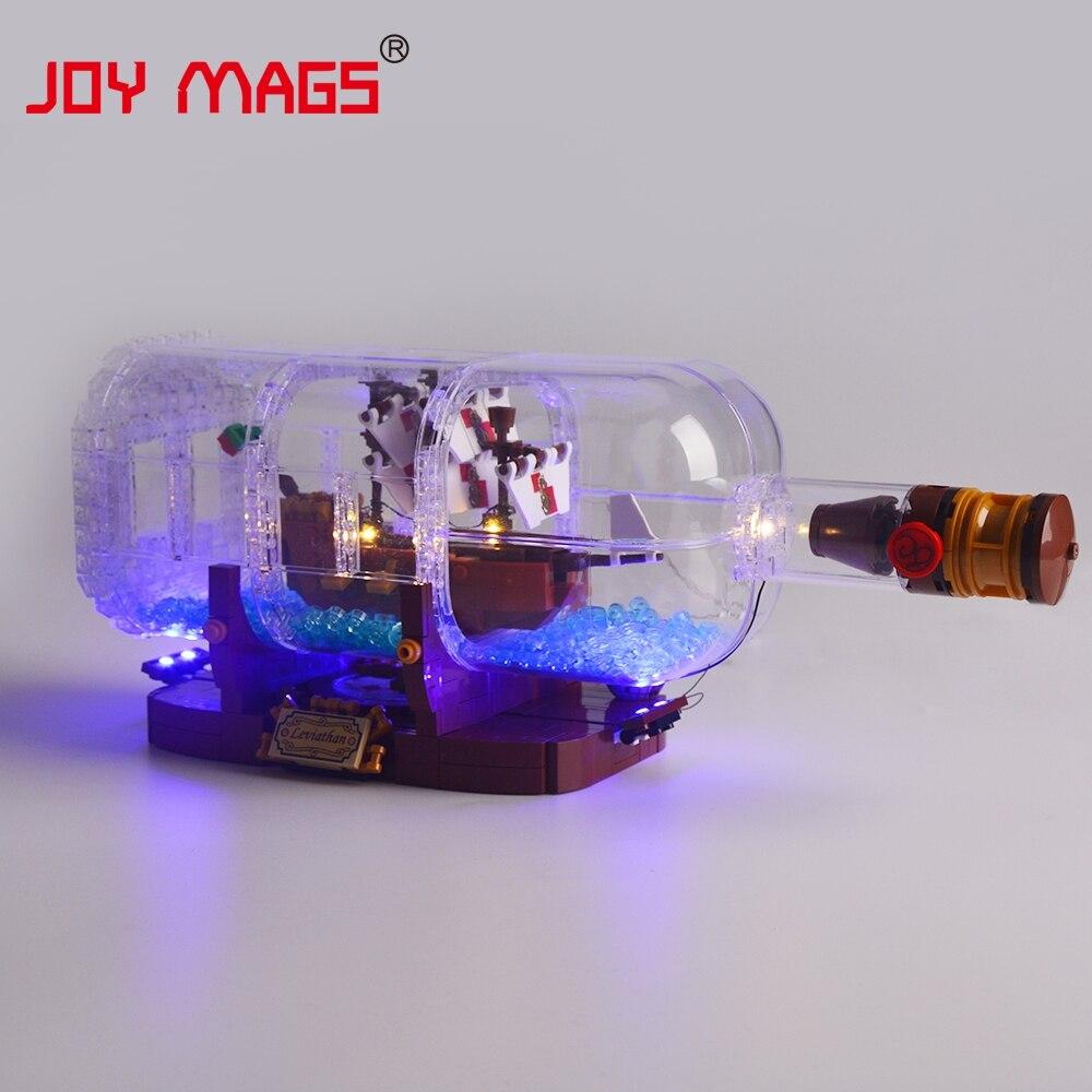 JOY MAGS Kit d'éclairage Led pour 21313 idées série le navire dans un ensemble d'éclairage de bouteille Compatible avec 16051/11050 NO Block modèle