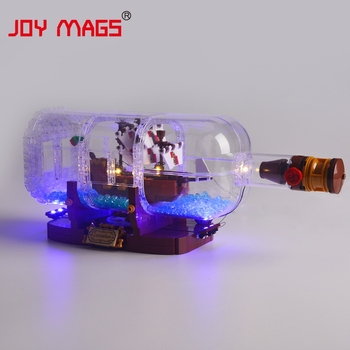 цена на JOY MAGS Led Light Kit For 21313 Ideas Series The Ship In A Bottle Lighting Set Compatible With 16051/11050 NO Block Model