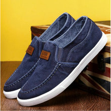 2018 Summer Outdoor Solid Footwear Vulcanize Shoes Comfortable Men's Flats Canvas Shoes Men Denim Cloth Casual Shoes MM-55
