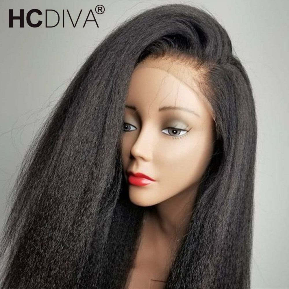 360 Lace Frontal Human Hair Wig For Women Kinky Straight Lace Frontal Wigs 250% Brazilian Remy Hair Pre Plucked With Baby Hair-in Human Hair Lace Wigs from Hair Extensions & Wigs