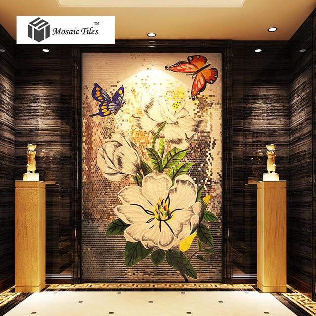Bisazza mosaics flower picture home deco wall tile backsplash mosaic ...
