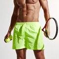 Hombres Moda Casual Shorts de Playa de secado rápido Pantalones Cortos Pantalones Joggers Pantalones Cortos Hasta La Rodilla de Gran Tamaño de Color Sólido Masculino Y2367