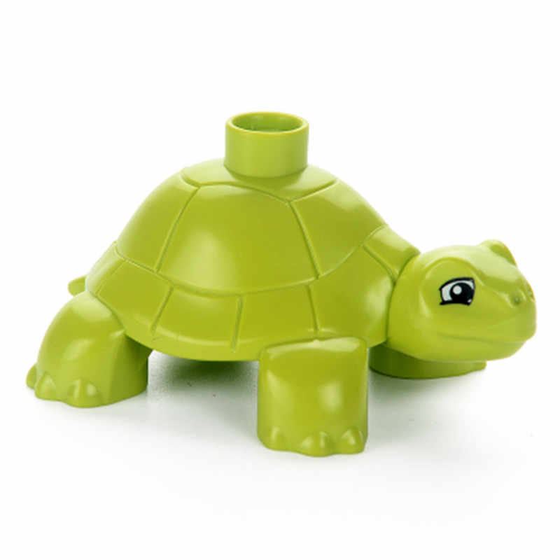 Legoings Duploed Ocean World Seahorse Tartaruga Caranguejo Animais Figuras de Ação Acessórios Modelos Blocos de Grandes Partículas Legoing Duploe