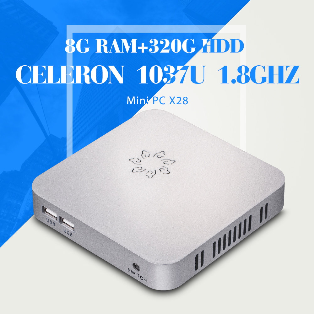 C1037U 8G RAM 320G HDD With WIFI HDMI Mini Computer Fanless Ultra Thin Client Table