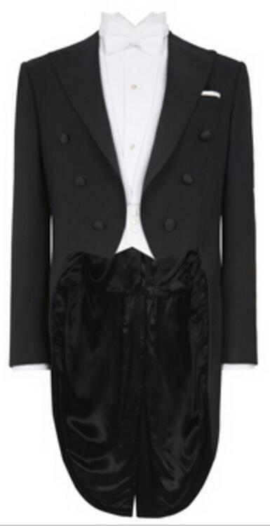 왼쪽 가슴 주머니, 흰색 조끼, 베스 롱 긴 턱시도 테일 코트, TAILORED EVENING SUIT와 검은 꼬리 코트를 측정하기 위해 주문 제작