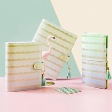 Lovedoki planificador de espiral con rayas cónicas, Agenda Personal, cuaderno 2019, regalo de tendencia creativo, papelería, suministros escolares