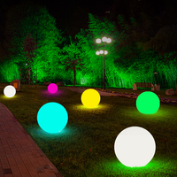 Thrisdar 16 Color Outdoor Garden Glowing Ball Light With Remote Patio Landscape Pathway LED illuminated Ball Table Lawn Lamps|Lawn Lamps| |  -