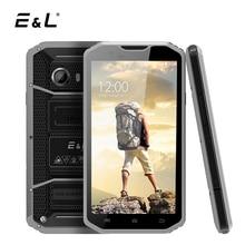 E & L W8 4 г LTE смартфон 5.5 дюймов Android 6.0 mtk6753 Octa core 2 ГБ Оперативная память + 16 ГБ Встроенная память IP68 прочный Водонепроницаемый мобильный телефон