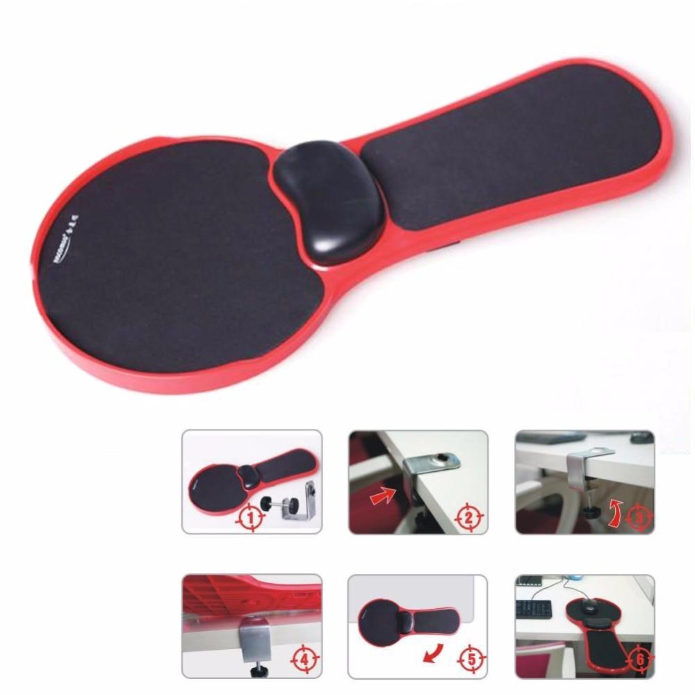Suporte de braço ajustável almofada do mouse para computador tablet braço suporte de pulso esteira mousepad mão ombro cadeira protetor braço extensor