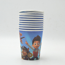 20pcs Puppy Patrol  Set Plate/Cup Boys Birthday Cartoon Theme Party For Kids