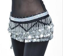 Женский бархатный шарф для танца живота, Серебряный платок 258 пробы, 150 см